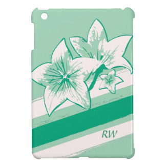 名前入りな波の緑およびクリーム色の近代美術Lilly iPad Mini Case