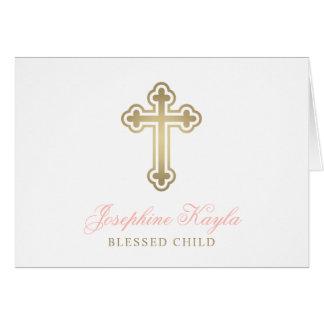 名前入りな洗礼は|の赤面および金ゴールド感謝していしています カード