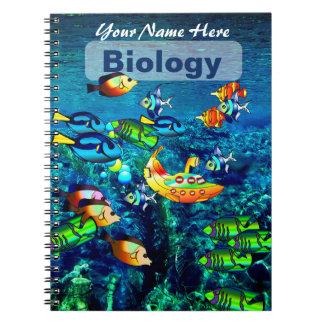 名前入りな海の景色の主題のノート ノートブック