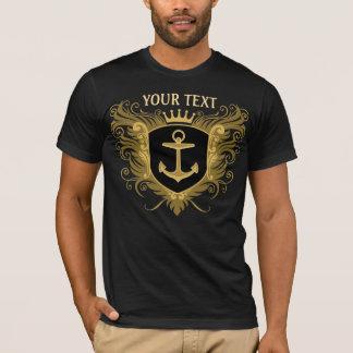 名前入りな海軍 Tシャツ
