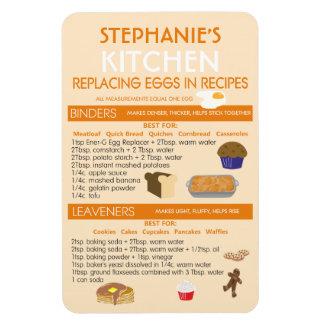 名前入りな焼ける図表の卵の代理 マグネット