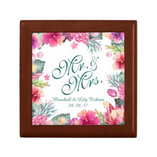 名前入りな熱帯結婚祝い箱 ギフトボックス