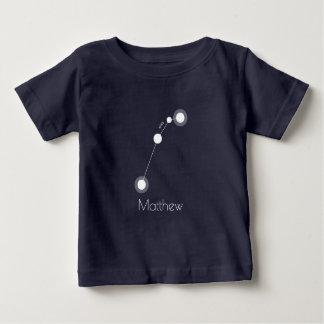 名前入りな牡羊座の(占星術の)十二宮図の星座 ベビーTシャツ
