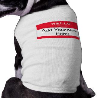 名前入りな犬の名札犬のワイシャツ 犬用袖なしタンクトップ
