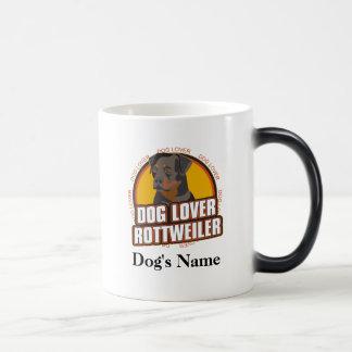 名前入りな犬の恋人のロットワイラー犬の品種 マジックマグカップ