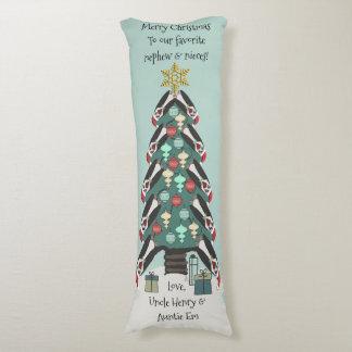 名前入りな独特なペンギンのクリスマスツリー- ボディピロー
