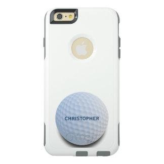 名前入りな独身ので白いゴルフ・ボール オッターボックスiPhone 6/6S PLUSケース