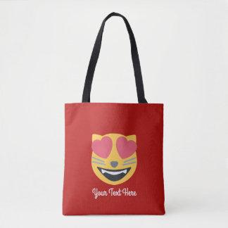名前入りな猫愛Emojiのトートバック トートバッグ