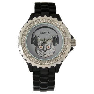 名前入りな猫dj 腕時計