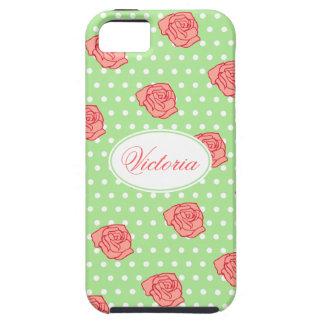 名前入りな珊瑚のばら色のiPhone 5の箱 iPhone SE/5/5s ケース