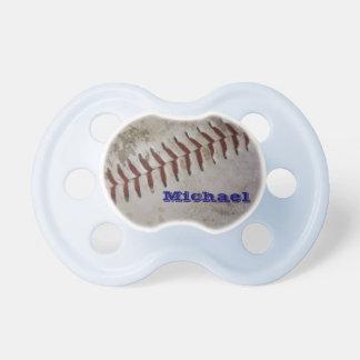 名前入りな男の赤ちゃんの未来の野球選手 おしゃぶり
