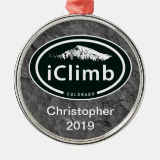 名前入りな登山のiClimb CO山のオーナメント メタルオーナメント