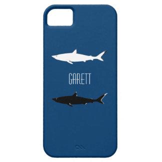 名前入りな白黒の鮫 iPhone SE/5/5s ケース
