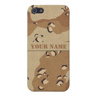 名前入りな砂漠のカムフラージュのiPhone 5cケース iPhone 5 ケース