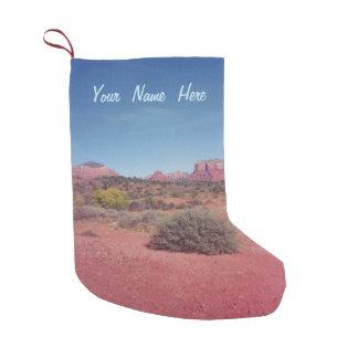 名前入りな砂漠ヴィスタ スモールクリスマスストッキング