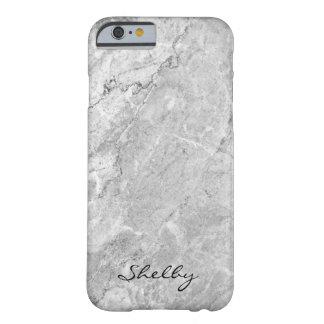 名前入りな示されたGray GraniteのiPhone 6/6sの場合 Barely There iPhone 6 ケース