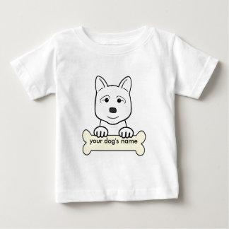 名前入りな秋田 ベビーTシャツ
