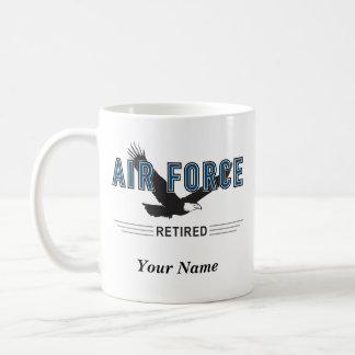 名前入りな空軍退職者のマグ コーヒーマグカップ