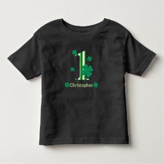 名前入りな第1セントパトリックの日のワイシャツ トドラーTシャツ