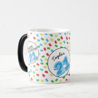 名前入りな第21誕生日の魔法のマグのフェスティバル マジックマグカップ