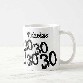名前入りな第30誕生日のマグは名前を加えます コーヒーマグカップ