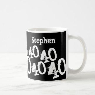 名前入りな第40誕生日 コーヒーマグカップ