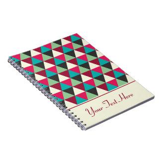 名前入りな粋で幾何学的な種族の三角形 ノートブック