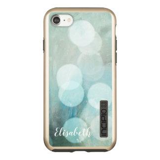 名前入りな粋な青によって印刷される《写真》ぼけ味のグリッター INCIPIO DualPro SHINE iPhone 8/7ケース