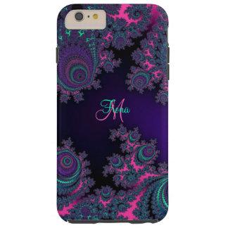 名前入りな紫色のフラクタルのiPhone 6のプラスの場合 Tough iPhone 6 Plus ケース