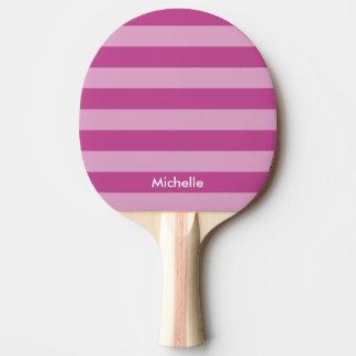 名前入りな紫色の卓球の卓球ラケット ピンポンラケット
