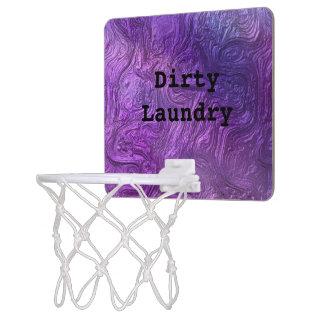名前入りな紫色の小型バスケットボールたが ミニバスケットボールゴール