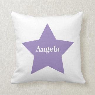 名前入りな紫色の星。 紫色の星のコレクション クッション