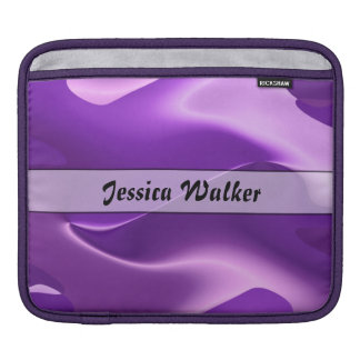 名前入りな紫色の炎の抽象芸術 iPadスリーブ