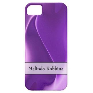 名前入りな紫色の炎の抽象芸術 iPhone SE/5/5s ケース