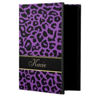 名前入りな紫色動物のヒョウのiPadの空気2箱 Powis iPad Air 2 ケース
