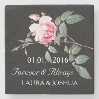 名前入りな結婚式によってが上がった日付のコースターを救って下さい ストーンコースター