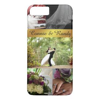 名前入りな結婚式の写真のコラージュのiPhoneの場合 iPhone 8 Plus/7 Plusケース