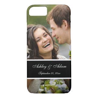 名前入りな結婚式の写真の記念品 iPhone 8/7ケース