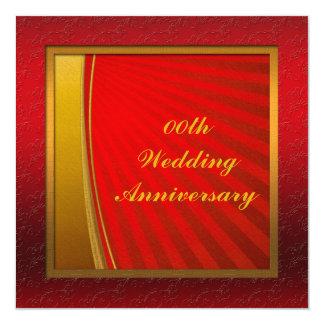 名前入りな結婚記念日のパーティの招待状 カード