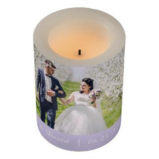 """名前入りな結婚LEDの蝋燭3"""" x 4"""" LEDキャンドル"""