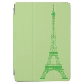 名前入りな緑のエッフェル塔 iPad AIR カバー