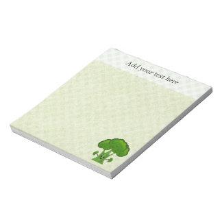 名前入りな緑のブロッコリー ノートパッド