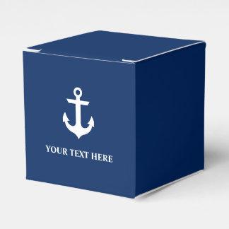 名前入りな航海のないかりの濃紺 フェイバーボックス