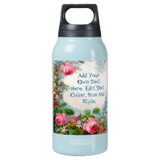 名前入りな花のボトル 断熱ウォーターボトル