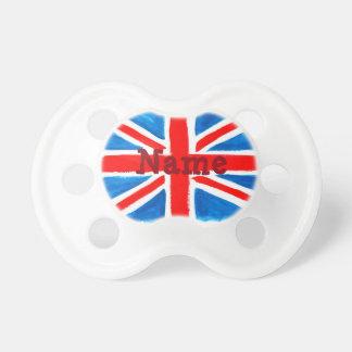 名前入りな英国国旗の旗の調停者 おしゃぶり