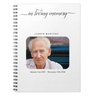 名前入りな葬儀の来客名簿/記念は署名します ノートブック