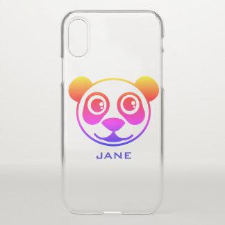 名前入りな虹のパンダ iPhone X ケース
