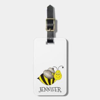 名前入りな蜂の《昆虫》マルハナバチのバッグの荷物のラベル ラゲッジタグ