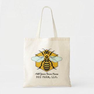 名前入りな蜜蜂の蜜蜂の巣の蜂の農場のApiary トートバッグ