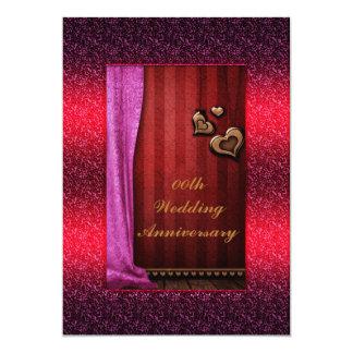名前入りな記念日のパーティの招待状 カード